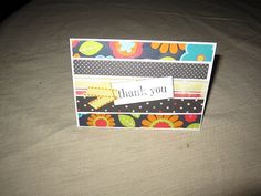 Thank You card made with scrap paper