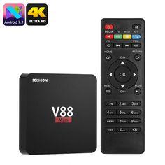 Buy Wallmart.win Android 7.1 Quad-core 4k Support Wifi Scishion V88 Mars Android Tv Box Miracast Google Play Kodi Tv: Vendor: CNV Type:…