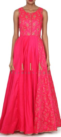 Buy this Pink anarkali suit adorn in zari and kardana embroidery only on Kalki