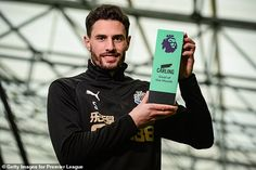 Newcastle defender Fabian Schar has been awarded the Goal of the Month for February Tom Heaton, Alan Shearer, Burnley, Everton, Goalkeeper, Newcastle, Premier League, Really Cool Stuff, February