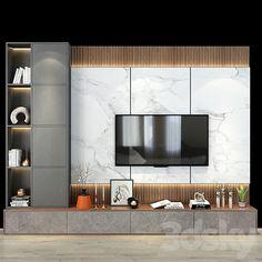 Modern Tv Room, Living Room Modern, Living Room Decor, Tv Shelf, Shelves, Wall Tv Stand, Wall Entertainment Center, Home Entrance Decor, Living Room Tv Unit Designs