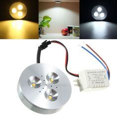 3W Kitchen LED Under Cabinet Lighting Kit Energy Saving Lamp AC85-265V