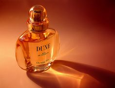 My absolute favorite perfume in the world: Dune by Christian Dior. Fruity mandarin top notes, light floral peony heart notes, and sweet vanilla notes.