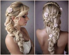 There are so many beautiful bridal hair styles for wedding day and every style have its own glamour. Check these out bridal hair styles photos and get inspired Bridal Hairstyles With Braids, Wedding Hairstyles For Long Hair, Pretty Hairstyles, Braided Hairstyles, Braided Updo, Updo Hairstyle, Bridesmaid Hairstyles, Hairstyle Wedding, Hairstyle Ideas