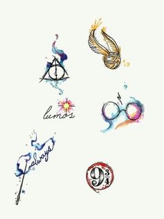 Water Colour Harry Potter Tattoos By Lady Pirates Tattoo Studio In Leigh On Sea Essex