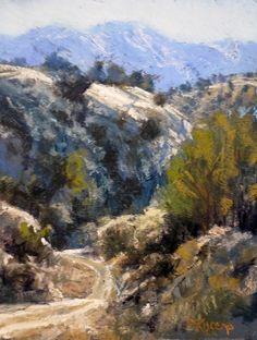 A Path Through Cerrillos Hills by Margi Lucena Pastel ~ 12 x 9