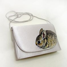 NEW Awake Asleep Baby Cottontail Rabbit Purse by NYhop - Handpainted OOAK SOLD