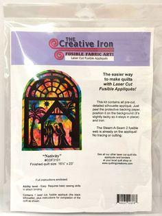 Nativity Laser Cut Fusible Appliques Christmas Creative Iron 16.5 x 23 in 6095 #TheCreativeIron