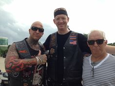 HD Sportster meet up with King Patje our Sgt At Arms and Mike (hopefully a future member!)