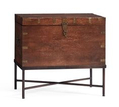 Buy Pottery Barn Timor Wood Trunk Accent Table Online from Pottery Barn UAE in Dubai, Abu dhabi. Experience online shopping with a wide range of Coffee & Side Tables and Enjoy ✓ Free Delivery on orders over AED 99 ✓ Easy returns ✓ Click & Collect UAE Pottery Barn Furniture, Brown Furniture, Home Decor Furniture, Table Furniture, Vintage Furniture, Furniture Storage, Marble End Tables, Glass Side Tables, Wood End Tables
