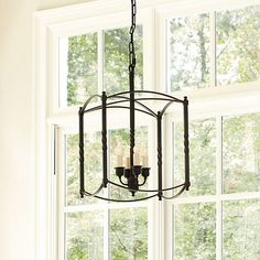 Carriage House Chandeliers..Ballard Designs..$216.69...no glass to clean