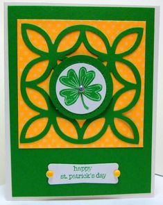 St. Patrick's Day card by mathgirl - Stampin' Up!