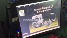 [TEST VIDEO]  Scania VCI-3 VCI3 Scanner Wifi Wireless Diagnostic Tool fo...