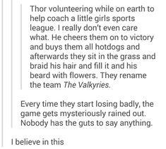 Thor coaches a little league-team, I accept this headcanon!