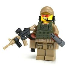 CCT Air Force Special Forces Value Minifig made w/ real LEGO® minifigure Special Ops, Special Forces, Nerf Accessories, Lego Soldiers, Lego Ninjago Minifigures, All Lego, Lego Mecha, Wrangler Shirts, Military Figures