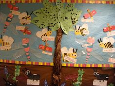 love this bulletin board for an insect unit!