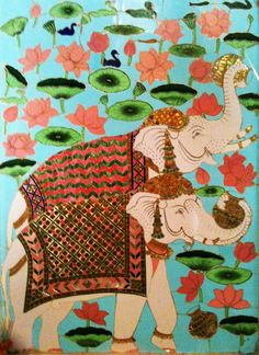 elephant tile, Udaipur Palace; by Adrienne O.