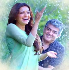 Kajal Agarwal Stills from 'Vivegam' Tamil Movie Romantic Couple Images, Love Couple Images, Romantic Pictures, Couples Images, Romantic Couples, Cute Couples, Ms Dhoni Wallpapers, Joker Wallpapers, Kajal Agarwal Saree