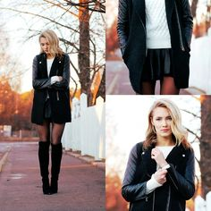Jacket, Shoes, , Knit Sweater