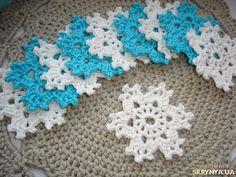 Набор новогодних украшений снежинок  д=7 см по 5 грн 1 шт.