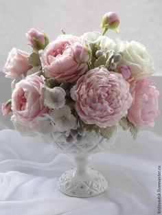 Композиция Все для тебя. - букет ручной работы,композиция из цветов,Холодный фарфор