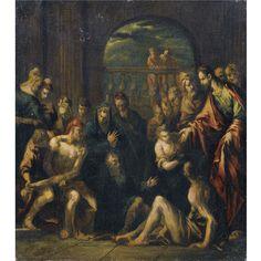 guardi, francesco t ||| old master paintings ||| sotheby's l09634lot3sgyjen    Workshop of Francesco Guardi  THE RAISING OF LAZARUS  Estimate  12,000 — 15,000  GBP