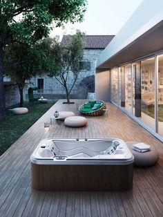 # hydromassage - New Ideas Hot Tub Gazebo, Hot Tub Backyard, Hot Tub Garden, Jacuzzi Outdoor, Outdoor Baths, Small Backyard Pools, Swimming Pools Backyard, Backyard Patio, Spa Jacuzzi