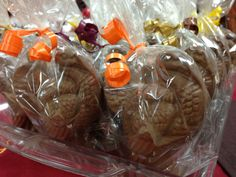 The shelves are alive with Chocolate Turkeys! www.dunmorecandykitchen.com