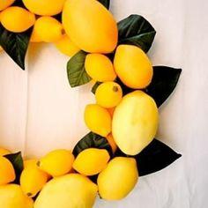 Lovely lemon wreath
