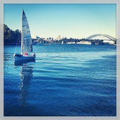 Un bateau et le Harbour bridge #harbourbridge #Australie #Sydney #visite #bateau (à Gladstone Park) http://erdelcroix.tumblr.com/post/54777108055/yseultdel-un-bateau-et-le-harbour-bridge