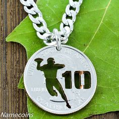 Football Player necklace with your Jersey Number, Quarterback custom s – NameCoins