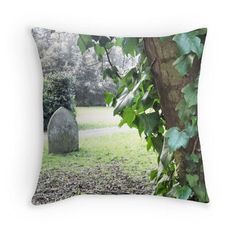 Ivy and grave cushion halloween throw pillow nature cushion cover green pillow…