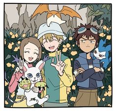 Takari or Daikari? Anime Manga, Anime Art, Gatomon, Digimon Adventure 02, Evolution, Otaku, Digimon Digital Monsters, Story Arc, Team Rocket
