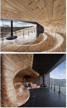 Norwegian Reindeer Viewing Centre Pavilion by Snøhetta #Norway #architecture #interiordesign I love this.