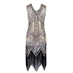 Red-ish Gold Black Deep V Neck Fringed Flapper 1920s Gatsby VINTAGE LOOK  NEW YEARS EVE Party Dress S-XL 86986f343da0