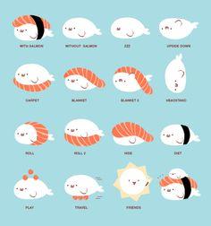 Cute sushi infographic.  #illustration #design  http://25.media.tumblr.com/tumblr_m1ep7qROTo1qgacc7o1_500.jpg