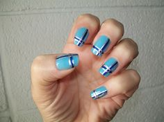 Blue Plaid by doodlebug603 from Nail Art Gallery