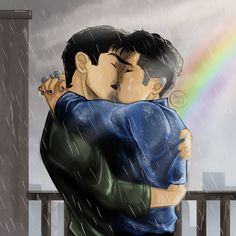OMG!This is so beautiful I wanted to draw a Malec rain kiss and look what I've found.This fandom is amazing.  Credits:@noksindra en Instagram:   When the sun shines, we'll shine together Told you I'd be here forever #malec #shadowhunters