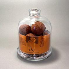 Toz kakao kaplı truffles cam kavanozda www.cikolatalazimmi.com