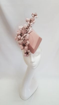 Millinery By Mel Leather Percher Fascinator Headband, Wide Headband, Headpiece, How To Make Fascinators, Kentucky Derby Fascinator, Floral Headdress, Sustainable Wedding, Pinup, Royal Clothing