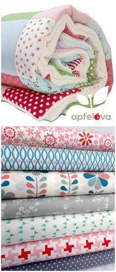 Die Patchworkdecke wird komplett nach Deinen Wünschen genäht, individuelles Geschenk / design your own blanket: choose fabric and size made by apfeleva via DaWanda.com