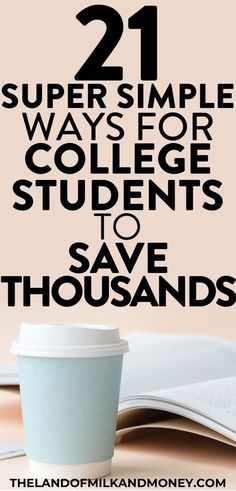 21 simple tips to save as a college student I SO needed some money saving tips for college students to help me with my budget and try to get debt free by graduation. So these money management ideas for saving money and to get extra cash are great for me t College Student Budget, Scholarships For College, College Tips, Education College, Budgeting For College Students, College Savings, College Essentials, College Board, Free Education