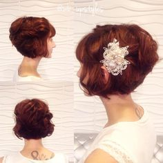 Bridal Curly Bob Hairstyle