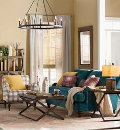 Best Farmhouse Living Room Furniture For Sale! Discover the best coffee tables, sofas, end tables, and more. Wagon Wheel Decor, Wagon Wheel Chandelier, Brighten Room, Farmhouse Living Room Furniture, Dining Room Table, Living Room Designs, Outdoor Furniture Sets, Family Room, Modern Farmhouse