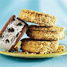 10 Clever Ways to Use Girl Scout Cookies  | Easy Chocolate-Mint Ice-Cream Sandwiches | http://MyRecipes.com