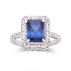 Lab-Created Sapphire & Diamond-Accent Ring  found at @JCPenney