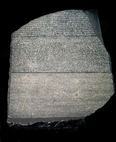 The Rosetta Stone The Rosetta Stone is a granodiorite slab... Ancient Artifacts, Ancient Egypt, Ancient History, Ancient Astronaut Theory, Egypt Museum, Rosetta Stone, Egyptian Art, Sphinx Egyptian, Photos Voyages