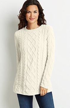 cable chenille pullover