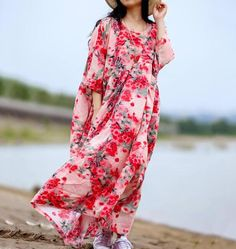 Cotton maxi dress, Women summer Dresses, large size dresses, long Floral Dress, Robes Holiday Dresses, Winter Dresses, Summer Dresses For Women, Oversized Dress, Large Size Dresses, Beautiful Dresses, Dress Robes, Group, Cotton