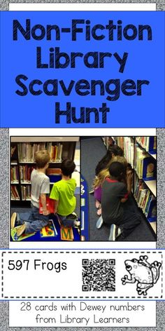 Help your students find non-fiction books in your school library with a fun scavenger hunt! Learning is engaging with a competitive game that lets students search and find informational books. Click for more info!